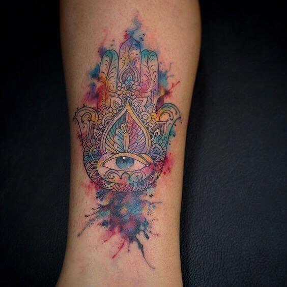 Hamsa Hand Tattoo Designs (101)