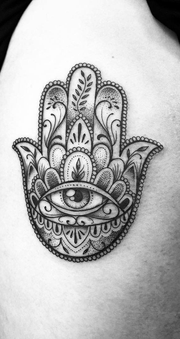 Hamsa Hand Tattoo Designs (103)
