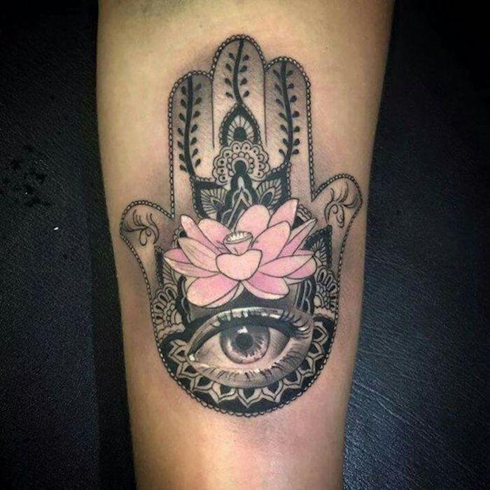 Hamsa Hand Tattoo Designs (105)