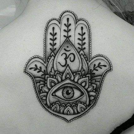 Hamsa Hand Tattoo Designs (106)