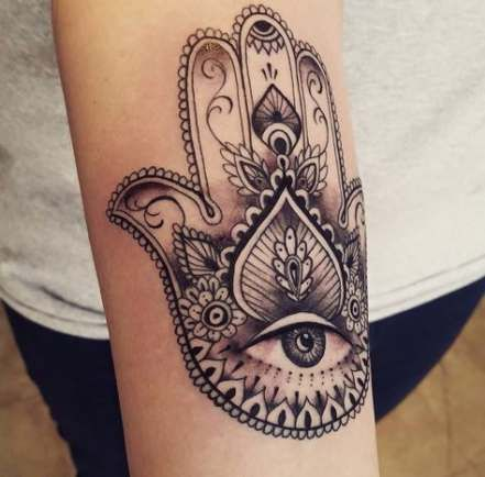 Hamsa Hand Tattoo Designs (119)