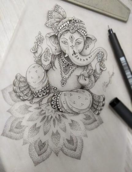 Hamsa Hand Tattoo Designs (12)