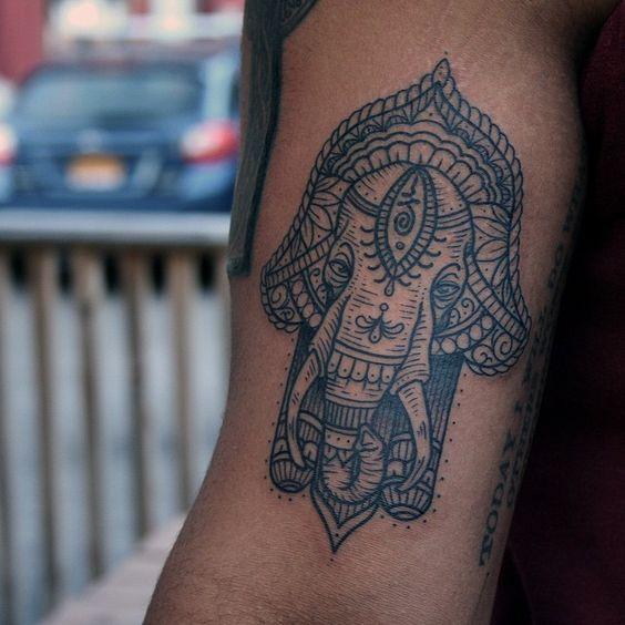 Hamsa Hand Tattoo Designs (126)