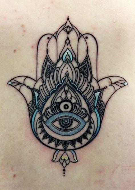Hamsa Hand Tattoo Designs (130)
