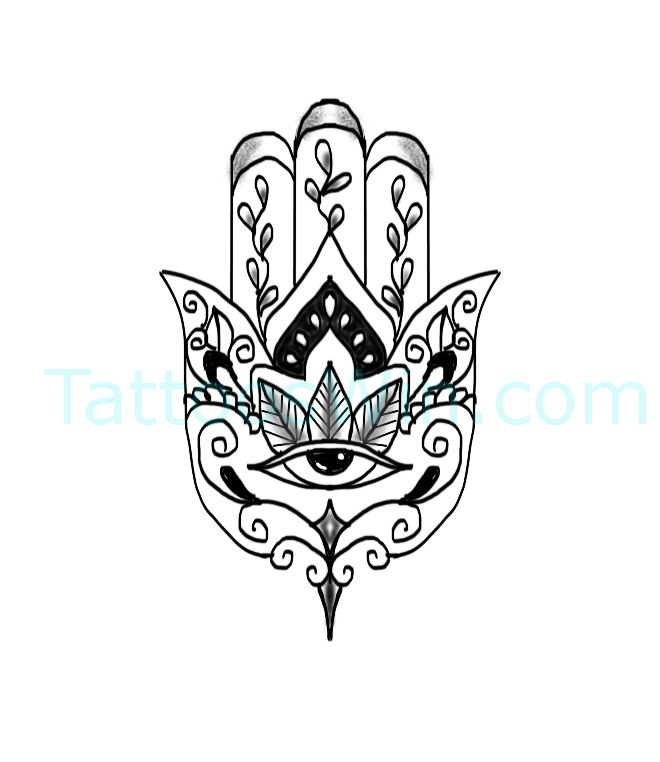 Hamsa Hand Tattoo Designs (136)