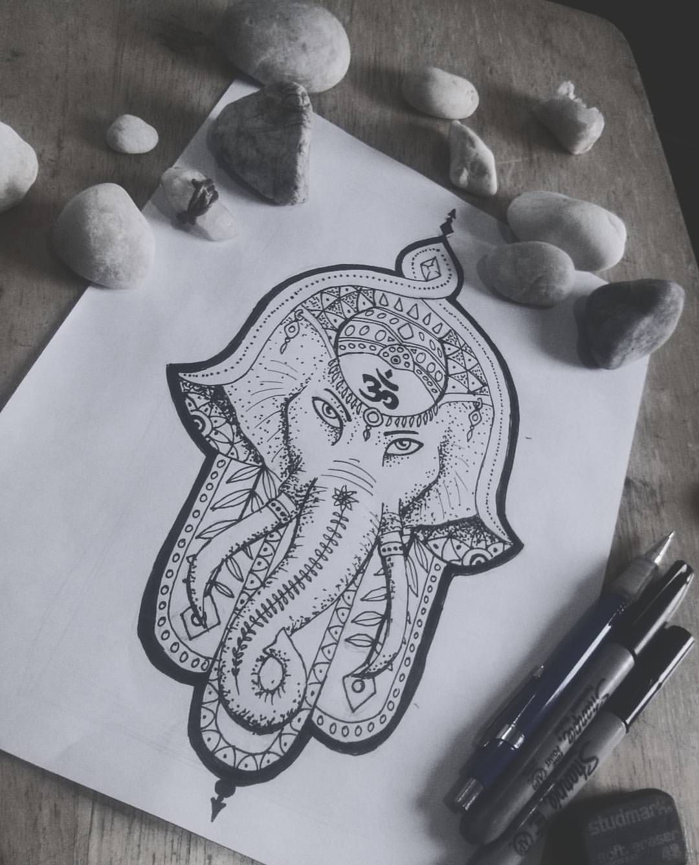 Hamsa Hand Tattoo Designs (141)