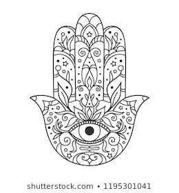 Hamsa Hand Tattoo Designs (147)