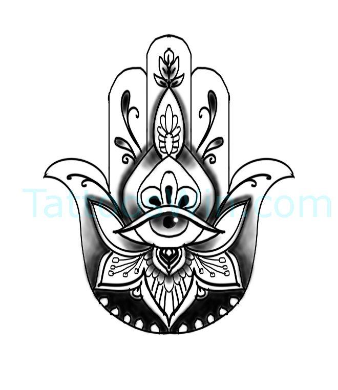 Hamsa Hand Tattoo Designs (148)