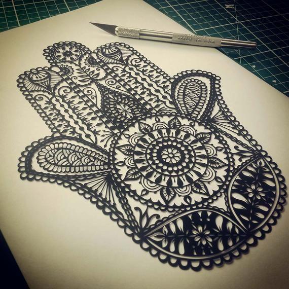 Hamsa Hand Tattoo Designs (150)