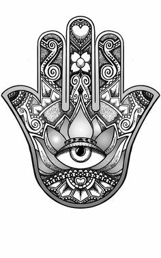 Hamsa Hand Tattoo Designs (152)
