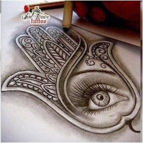 Hamsa Hand Tattoo Designs (153)