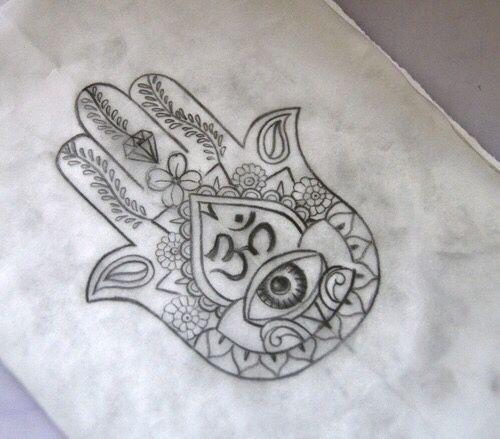 Hamsa Hand Tattoo Designs (161)