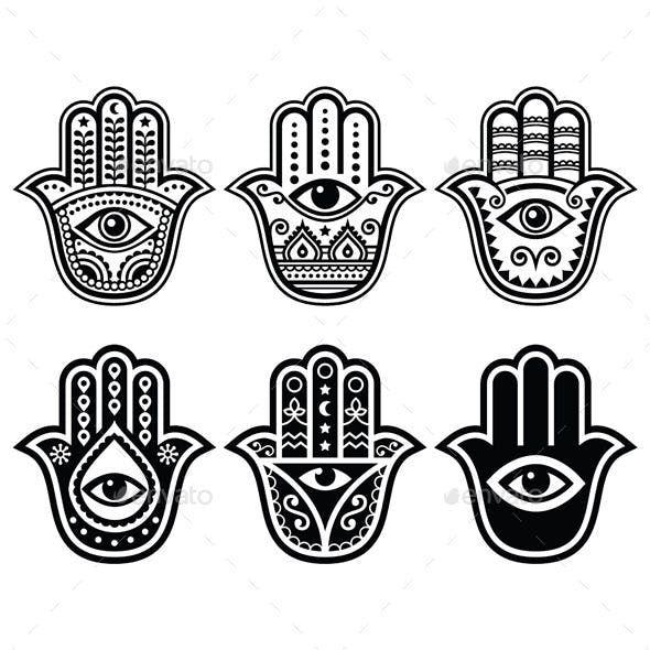 Hamsa Hand Tattoo Designs (165)