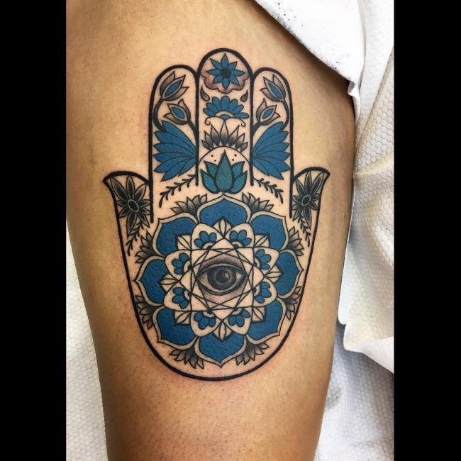 Hamsa Hand Tattoo Designs (169)