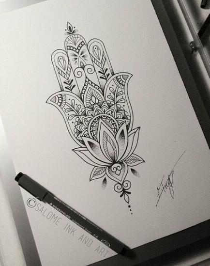 Hamsa Hand Tattoo Designs (177)