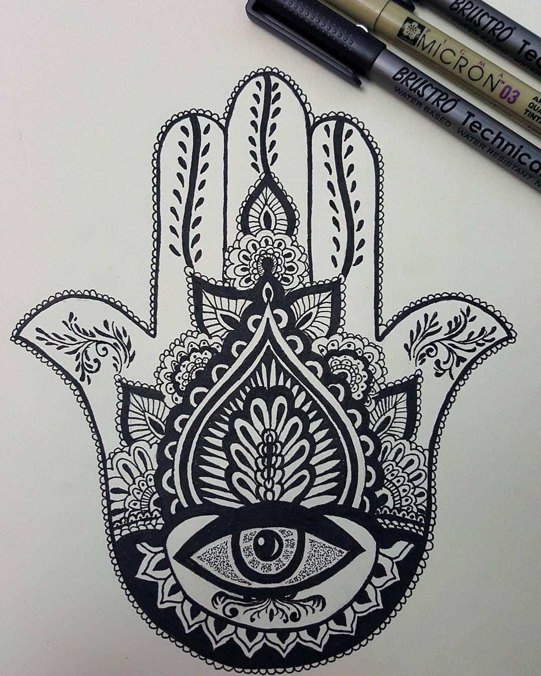 Hamsa Hand Tattoo Designs (182)