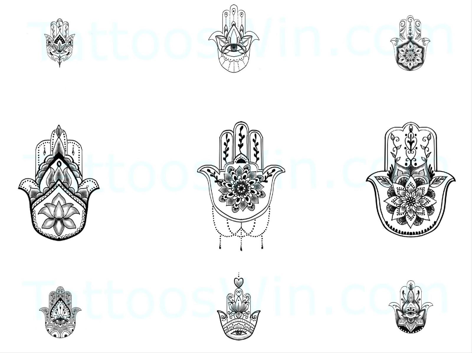 Hamsa Hand Tattoo Designs (184)