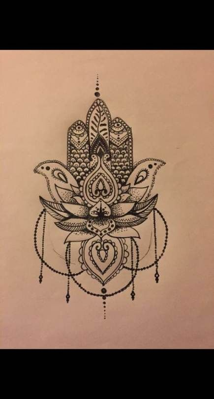Hamsa Hand Tattoo Designs (189)