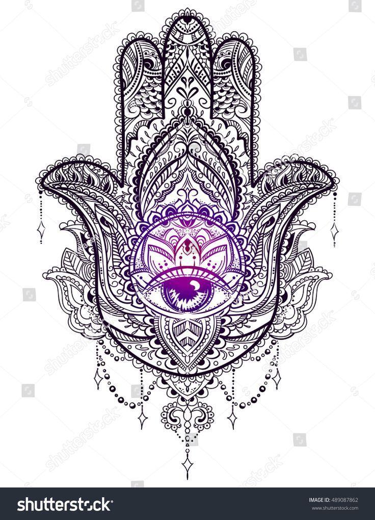 Hamsa Hand Tattoo Designs (195)