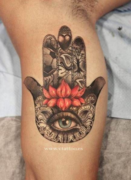 Hamsa Hand Tattoo Designs (199)