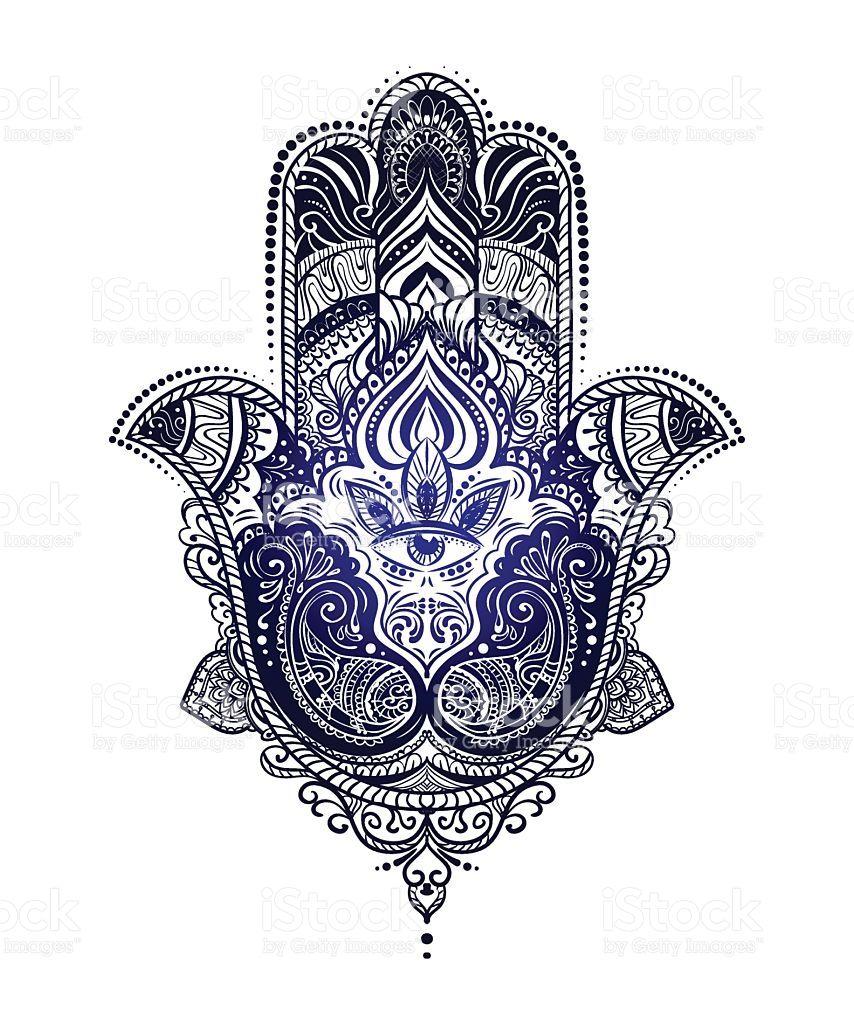 Hamsa Hand Tattoo Designs (200)