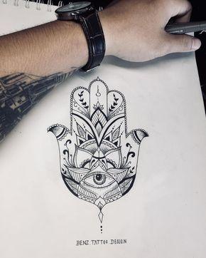 Hamsa Hand Tattoo Designs (205)