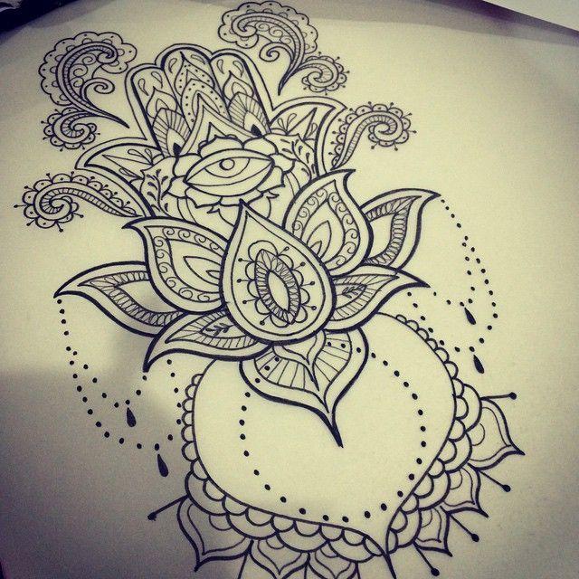 Hamsa Hand Tattoo Designs (211)