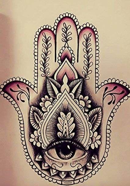 Hamsa Hand Tattoo Designs (212)