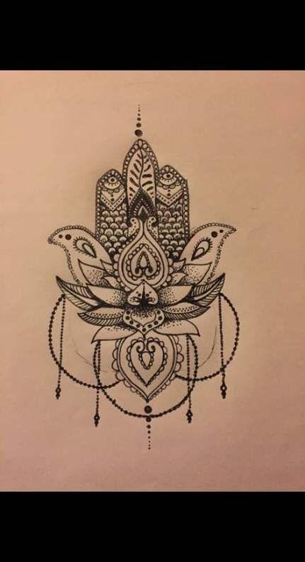 Hamsa Hand Tattoo Designs (214)