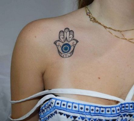 Hamsa Hand Tattoo Designs (217)