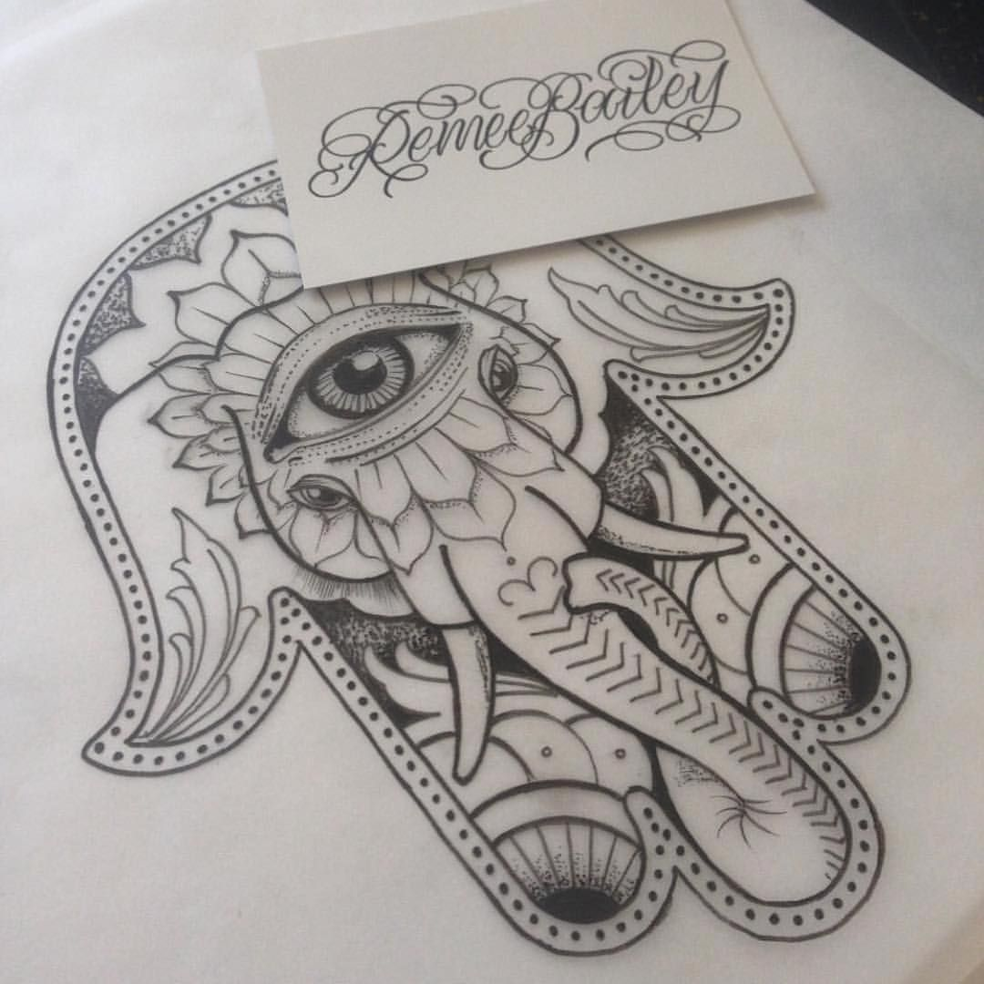 Hamsa Hand Tattoo Designs (218)
