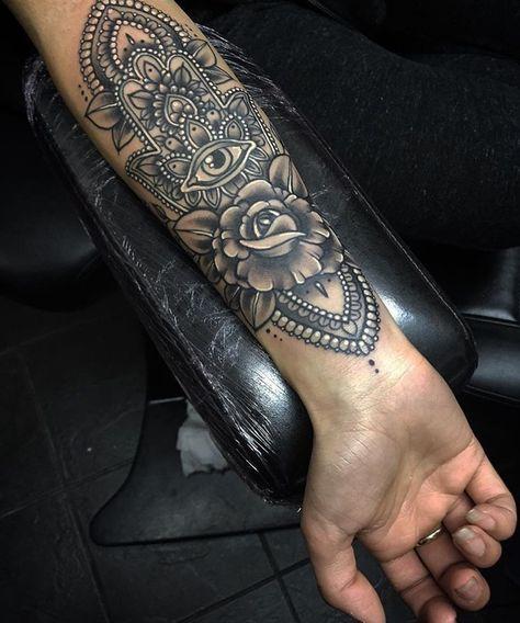 Hamsa Hand Tattoo Designs (219)