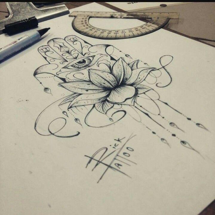 Hamsa Hand Tattoo Designs (22)
