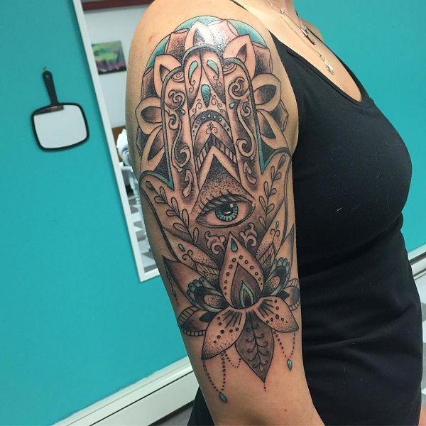 Hamsa Hand Tattoo Designs (221)
