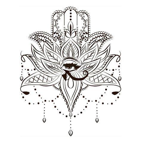 Hamsa Hand Tattoo Designs (225)