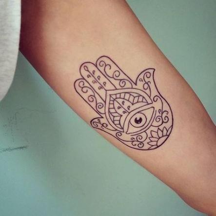 Hamsa Hand Tattoo Designs (227)
