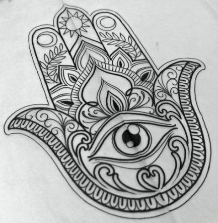 Hamsa Hand Tattoo Designs (229)