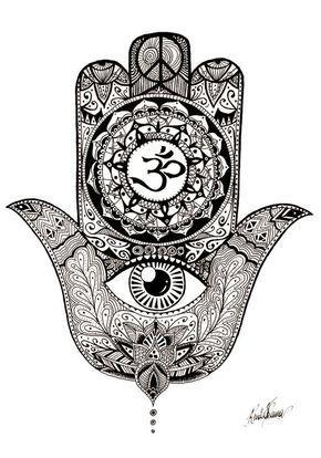 Hamsa Hand Tattoo Designs (231)