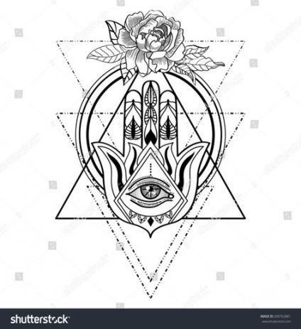 Hamsa Hand Tattoo Designs (233)