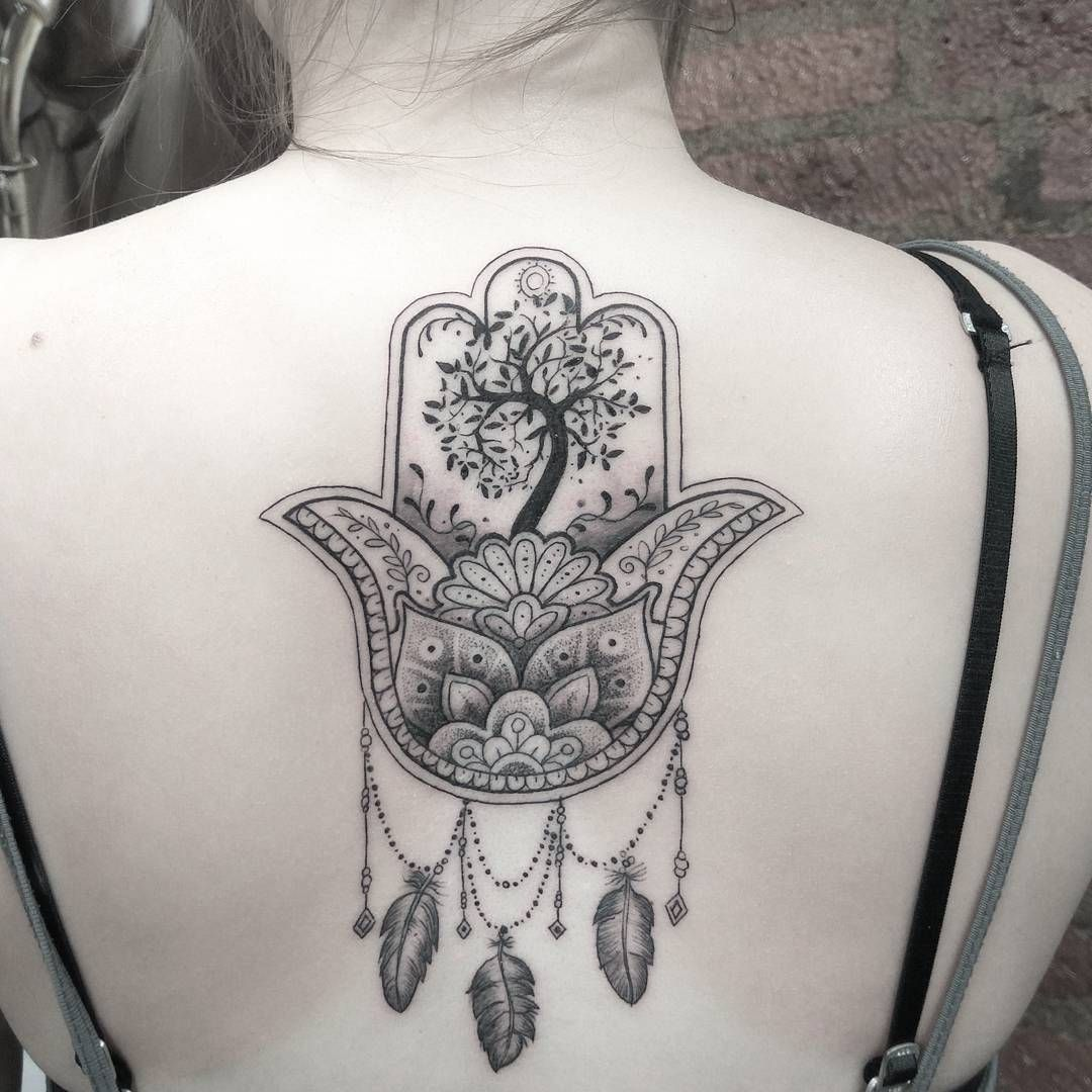 Hamsa Hand Tattoo Designs (234)