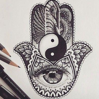 Hamsa Hand Tattoo Designs (235)