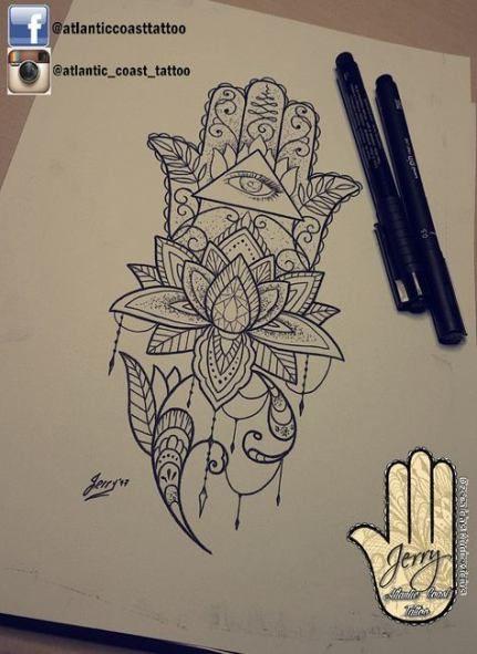 Hamsa Hand Tattoo Designs (239)