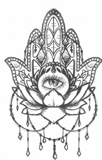 Hamsa Hand Tattoo Designs (243)