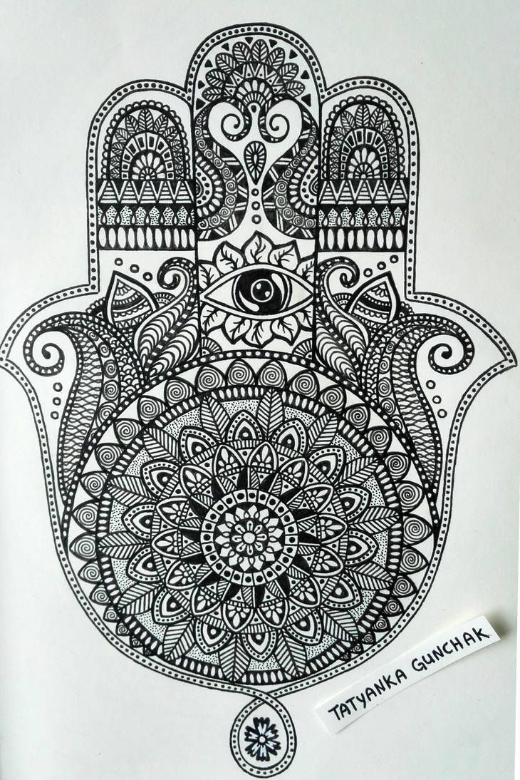 Hamsa Hand Tattoo Designs (245)
