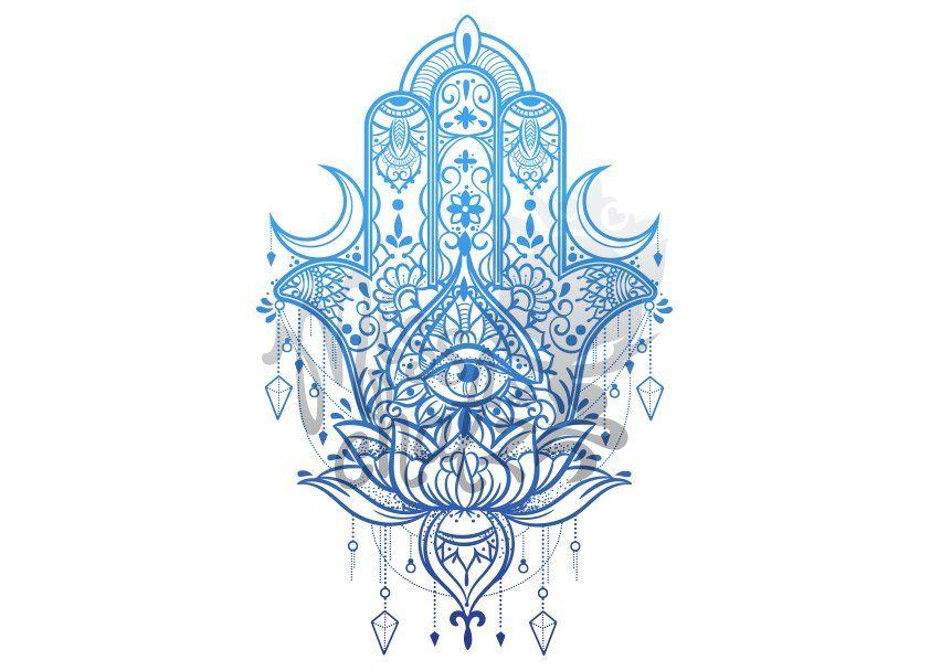 Hamsa Hand Tattoo Designs (246)