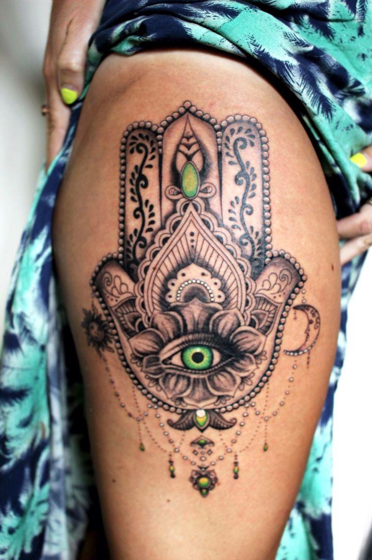 Hamsa Hand Tattoo Designs (248)