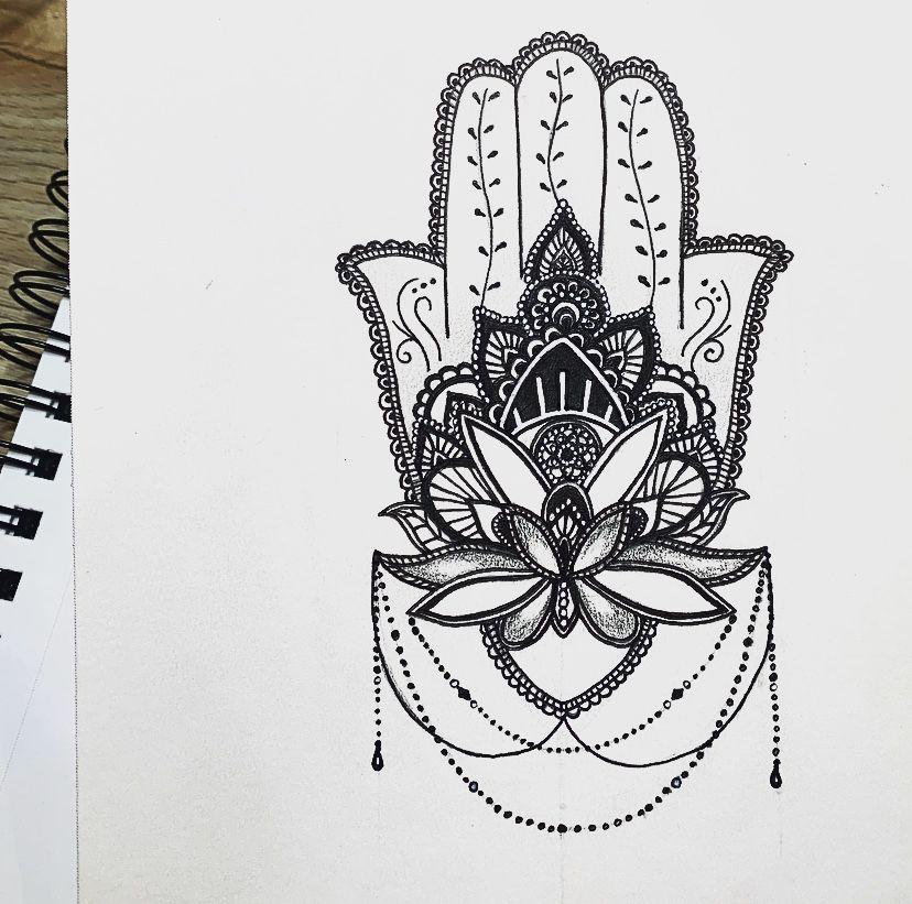 Hamsa Hand Tattoo Designs (3)