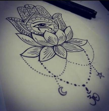 Hamsa Hand Tattoo Designs (30)