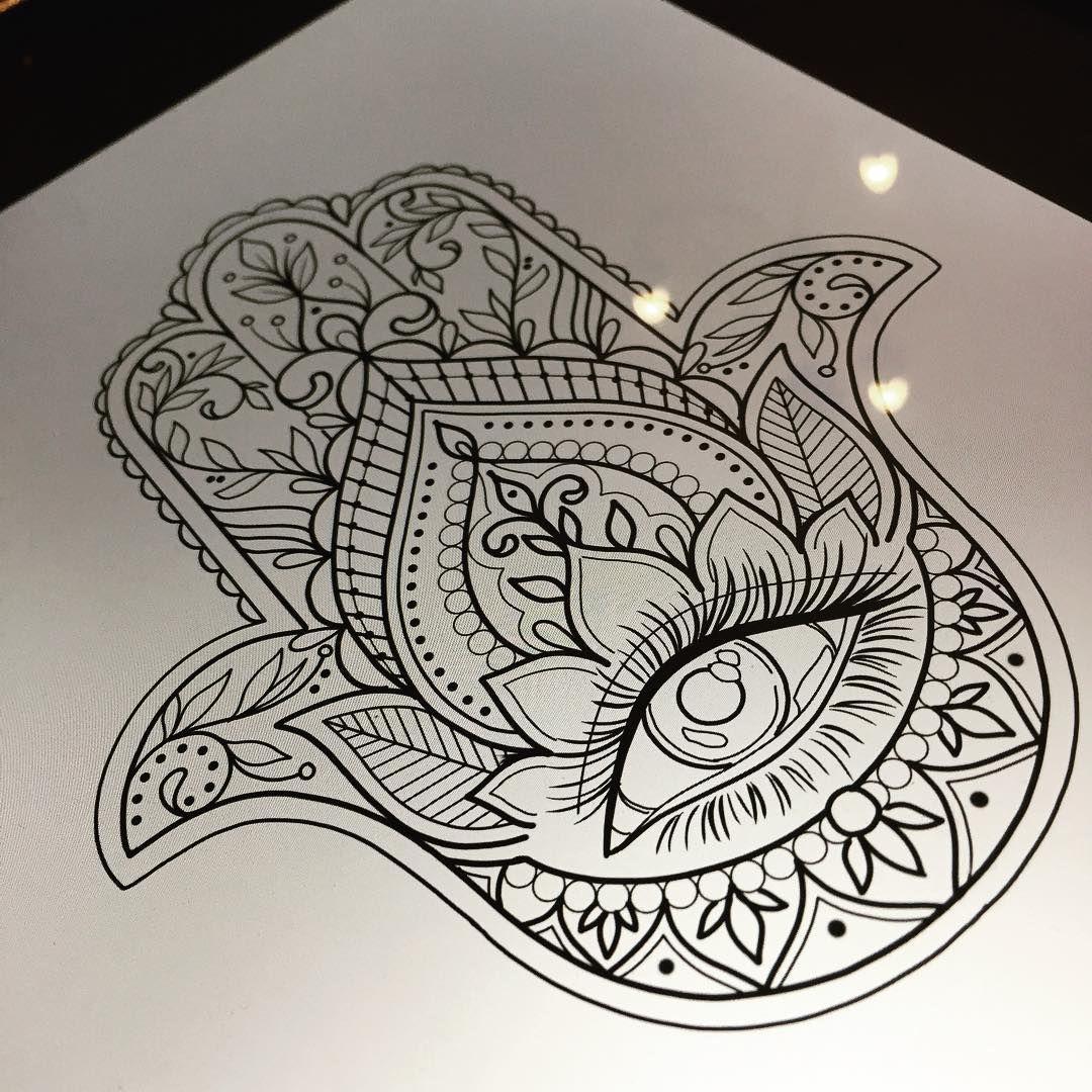 Hamsa Hand Tattoo Designs (37)