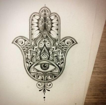 Hamsa Hand Tattoo Designs (42)